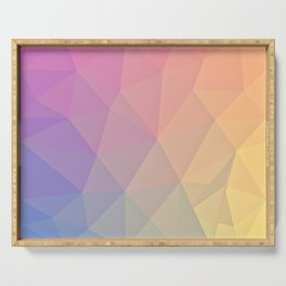 Abstract Polygons Serving Tray
