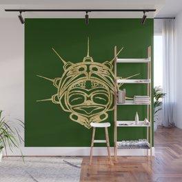 Gold Frog Grass Wall Mural