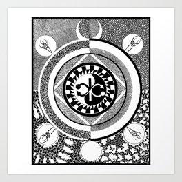Infinity of Two Art Print