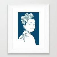 marianna Framed Art Prints featuring Hermosa Marianna by Alef
