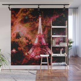 Paris Dreams Pink Orange Wall Mural