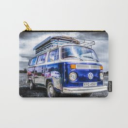 Blue VW campervan Carry-All Pouch