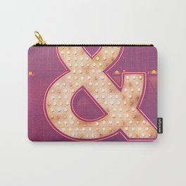 Neon Ampersand Carry-All Pouch