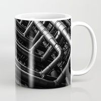 industrial Mugs featuring Industrial Pipes by Pati Designs