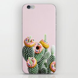Donut Cactus In Bloom iPhone Skin