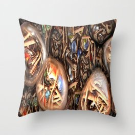 Screwed over Cats eyes Throw Pillow