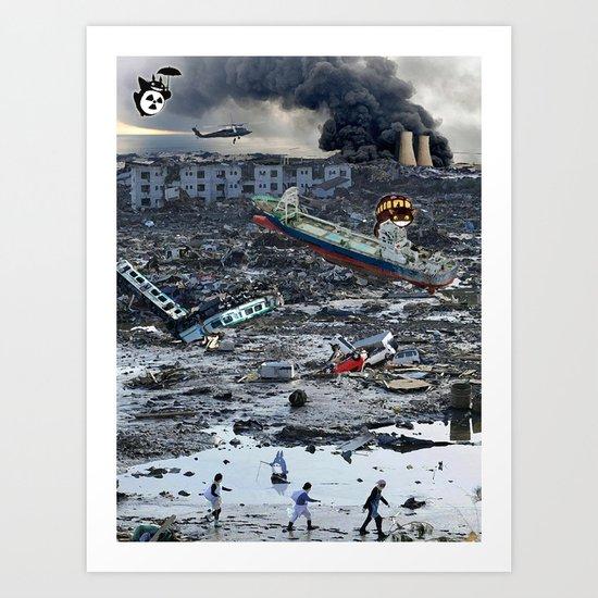 Still Life - Totoro Tsunami Series Art Print