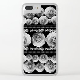 Black and White Floral #2 Clear iPhone Case