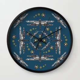 Lightning Bugs and Dragonflies II Wall Clock