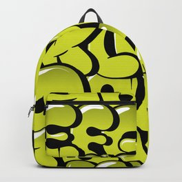 Hand drawn bubble style  graffiti alphabet letters Backpack