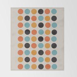 Bauhaus dots Throw Blanket