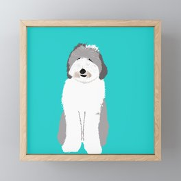 Lucy The Sheepadoodle Framed Mini Art Print