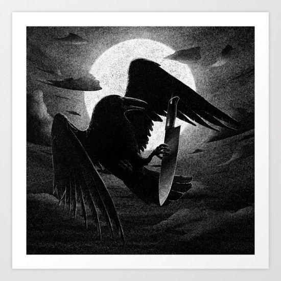 Drawlloween 2013: Raven Art Print