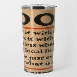 Vintage poster - Don't Waste Food Travel Mug
