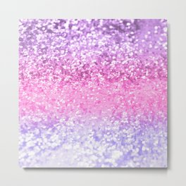 Unicorn Girls Glitter #2 #shiny #decor #art #society6 Metal Print
