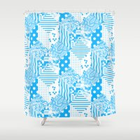 clear Shower Curtains featuring Clear Blue by Tyler Spangler
