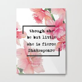 Quotes Shakespeare I Metal Print