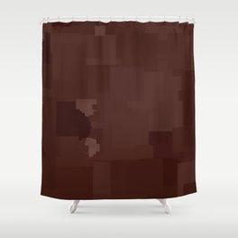 Fudgesickle Square Pixel Color Accent Shower Curtain