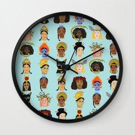 Goddesses Around the World Wall Clock
