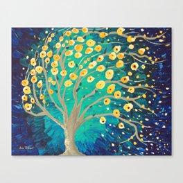 Lemony Blossoms - Tree Canvas Print