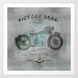 Motorbike Vintage Grunge Poster Art Print