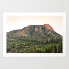 Saddle Mountain Sunset Oregon Clatsop County Northwest Forest Landscape Art Print