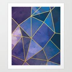 Shattered Sapphire Art Print