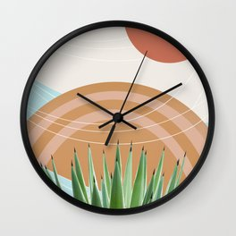 Agave in the Desert Oasis #1 #tropical #wall #art #society6 Wall Clock
