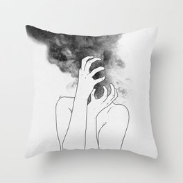 Losing thoughts. Throw Pillow