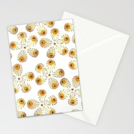 Butterfly Flowers Stationery Cards