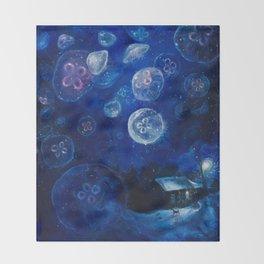 It's Jellyfishing Outside Tonight Throw Blanket