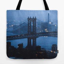 Manhattan Bridge at twilight Tote Bag