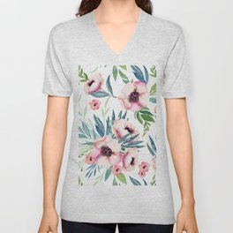 Flowers in Bloom Unisex V-Neck