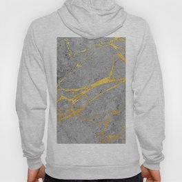 Grey Marble and Gold Hoody