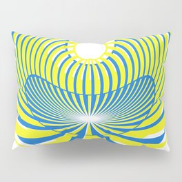 Yellow and Blue Pillow Sham