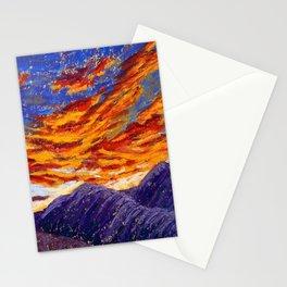 Sky Fire Stationery Cards