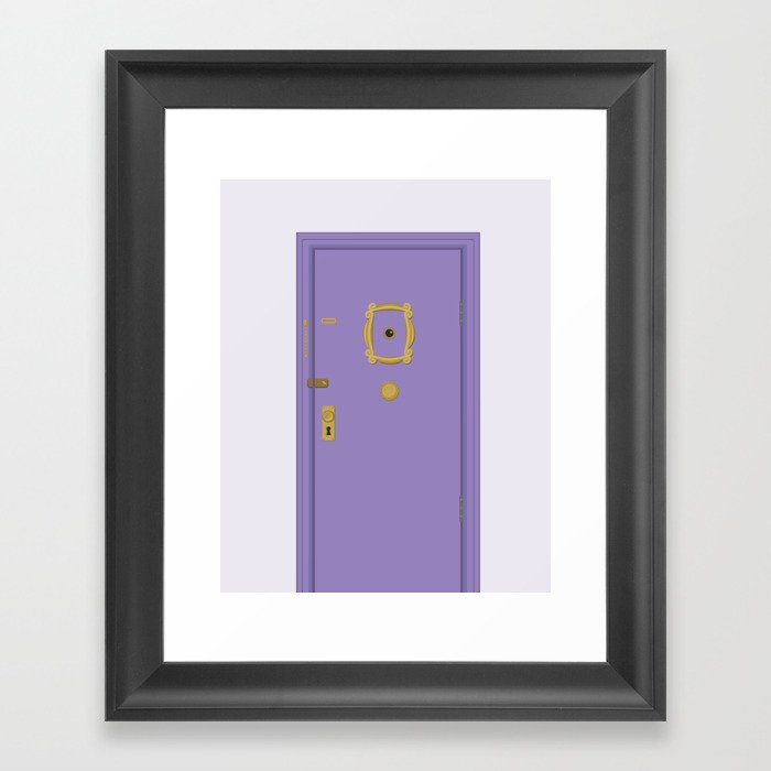 Purple Door Friends Apartment Framed Art Print