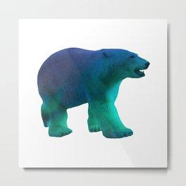 Aurora Polar Bear Metal Print