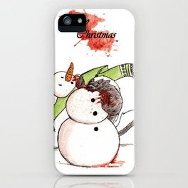 Honey Badger Christmas Snowman iPhone Case