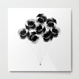 Black Rose Metal Print