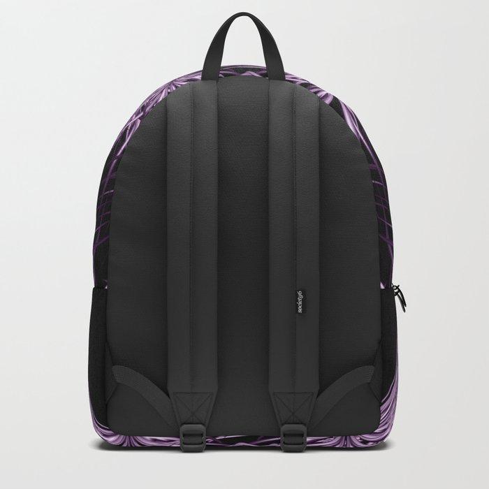 Mandala purple and black Backpack