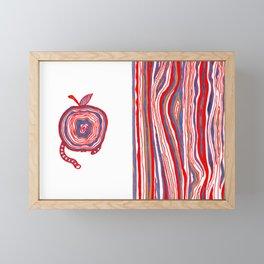 Apple Lines Framed Mini Art Print