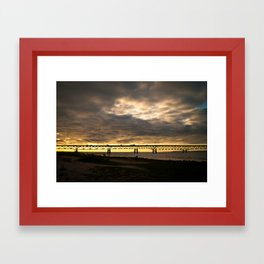 Waiting on the Sun to set Framed Art Print