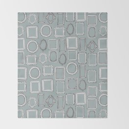 picture frames grey Throw Blanket