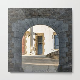 The Arch and the House Metal Print
