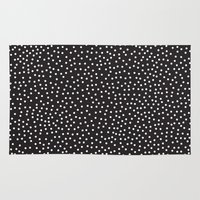 gray Area & Throw Rugs featuring Dots by Priscila Peress
