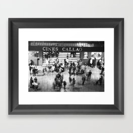 Cines Callao Framed Art Print