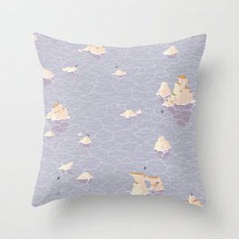 Puffinry Throw Pillow