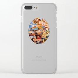 Glitch Pin-Up Redux: Zelda & Zoe Clear iPhone Case