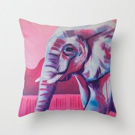 Pastel Elephant Throw Pillow